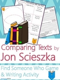 Jon Scieszka Author Study {Comparison & Contrast Writing a