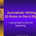 Journalism: 10 Tips for Better News Writing for Newspaper