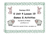 Journeys 2014 Kindergarten Unit 4 Lesson 19 Games and Activities