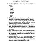 Journeys 2nd Grade Unit 1 Writing Center Prompts