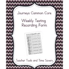 Journeys Common Core 2nd Grade Weekly Testing Record (RTI