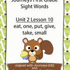 Journeys First Grade Sight Words Unit 2 Lesson 10