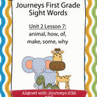 Journeys First Grade Sight Words Unit 2 Lesson 7