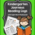 Journeys Kindergarten Reading Log with Sight Word Flashcards