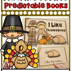 Thanksgiving Themed Predictable Readers for Kindergarten
