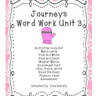 Journeys Kindergarten Unit 3 Word Work