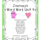 Journeys Kindergarten Unit 4 Word Work