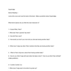 Judy Blume Superfudge Comprehension Questions (all chap.)