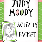 Judy Moody Activity Packet