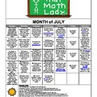 July 2013 Summer Activity Calendar