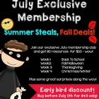 July Exclusive Membership Summer Steals Fall Deals {Week 3