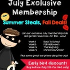 July Exclusive Membership Summer Steals Fall Deals {Week 1