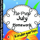 July Homework Packet: Kindergarten (At the Beach)