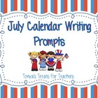 July Writing Calendar Prompts