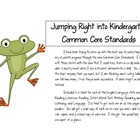 Jump Right into the Kindergarten ELA Common Core Standards