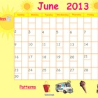 June 2013 Calendar for Smartboard