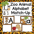 Jungle Animal Print Alphabet Match-Up