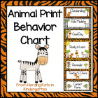 Jungle Animal Print Behavior Clip Chart