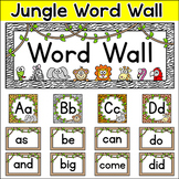 Jungle Animals Theme Classroom  - Word Wall Set - 300 Sigh
