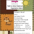 Jungle Back to School Organization Galore