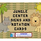 Jungle  Centers Signs and Rotation Cards