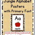 Jungle – Cheetah Alphabet Posters with Primary Font A - Z