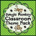 Jungle Monkey Classroom Set-Up Theme Pack