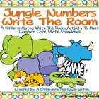 Jungle Numbers Write the Room Fun-Differentiated and Commo