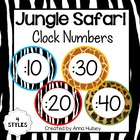 Jungle Safari Clock Numbers