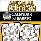 Jungle / Safari Theme Calendar Numbers w/ Original Animal Clipart
