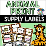 Jungle / Safari Theme Classroom Supplies Labels (pencils,