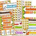 Jungle Safari Themed Classroom Calendar Set