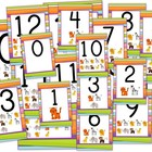 Jungle Safari Themed Numbers 0 to 20 Posters