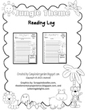 Jungle Theme Reading Logs