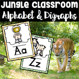 Jungle Theme Alphabet Set With 14 Digraph Cards