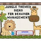 Jungle  Themed Behavior Management Signs