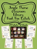 Jungle Themed Classroom Library Book Box Labels