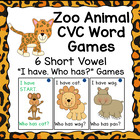 "Jungle Themed ""I have...Who has..?"" Word Family/CVC Game Bundle"
