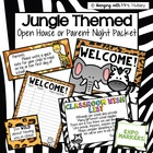 Jungle Themed Open House Documents (Editable)