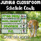 Jungle Theme Schedule Cards - Over 50 Cards