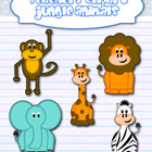 Jungle animals clipart