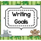 Jungle themed Writing Goal Cards