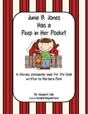 Junie B. Jones Has a Peep in Her Pocket {Literacy Companion Pack}