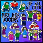 Just Kids Doodles clip art (BW and full-color PNG images)
