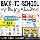 Just Print! Back to School Common Core Printables {5th Gra