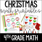 Just Print! Christmas Themed Common Core Printables {4th G