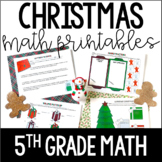 Just Print! Christmas Themed Common Core Printables {5th G