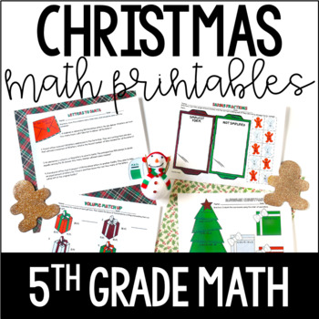 Just Print! Christmas Themed Common Core Printables {5th Grade Math}