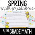 Just Print! Spring Themed Common Core Printables {4th Grade Math}