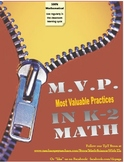 K-2 MVP's in Math-Common Core Mathematical Practices